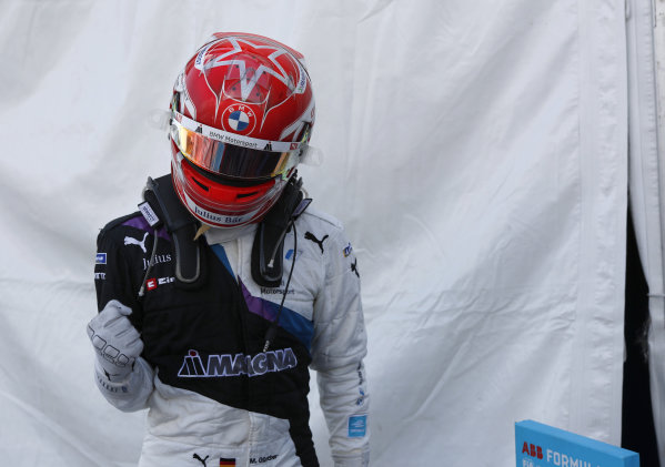 Maximilian Guenther (DEU), BMW I Andretti Motorsport, 1st position, celebrates on arrival in Parc Ferme