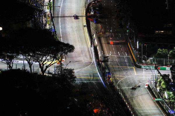 Brendon Hartley, Toro Rosso STR13 Honda, and Carlos Sainz Jr., Renault Sport F1 Team R.S. 18.