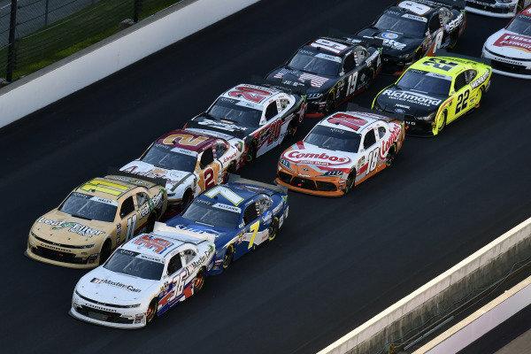 #36: Josh Williams, DGM Racing, Chevrolet Camaro Harkin Construction and #11: Justin Haley, Kaulig Racing, Chevrolet Camaro LeafFilter