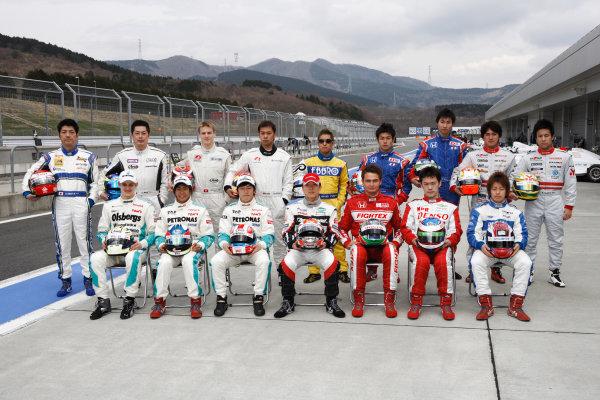 Fuji, Japan. 5th April 2009.Rd1 -  2009 Drivers portrait .World Copyright: Yasushi Ishihara/LAT Photographicref: 2009JF3_R1_007