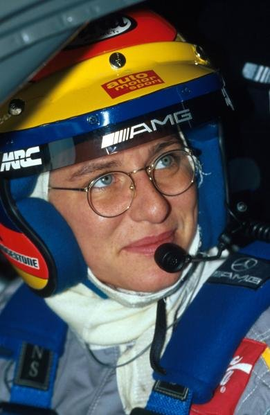Ellen Lohr (GER) Mercedes prepares for action.German Touring Car Championship, Donington Park, England, 18 July 1993.