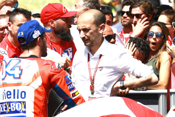 2017 MotoGP Championship - Round 6 Mugello, Italy Sunday 4 June 2017 Andrea Dovizioso, Ducati Team, Claudio Domenicali, Ducati World Copyright: Gold & Goose Photography/LAT Images ref: Digital Image 674797