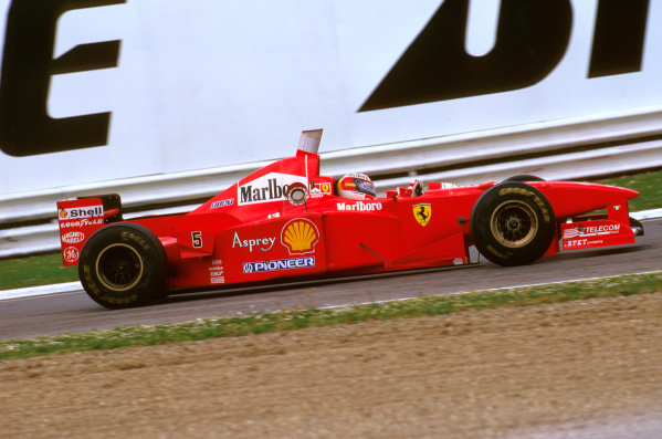 Imola, San Marino.25-27 APRIL 1997.Michael Schumacher (Ferrari F310B) 2nd position.Ref-97 SM 14.World  Copyright - LAT Photographic