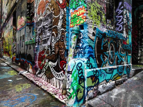Melbourne, Australia Tuesday 21 March 2017. Melbourne street art Photo: Sam Bloxham/LAT ref: Digital Image DSC00039