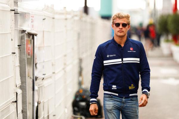 Monte Carlo, Monaco. Thursday 25 May 2017. Marcus Ericsson, Sauber. World Copyright: Sam Bloxham/LAT Images ref: Digital Image _J6I0082