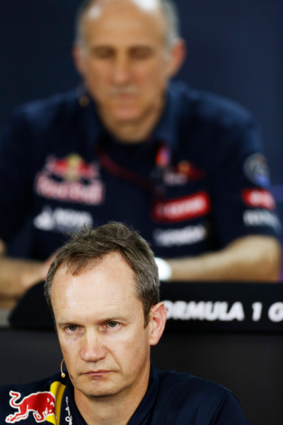 Interlagos, Sao Paulo, Brazil. Friday 13 November 2015. Jonathan Wheatley, Team Manager, Red Bull Racing, in the Team Principals Press Conference. World Copyright: Alastair Staley/LAT Photographic ref: Digital Image _79P3706