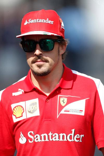 Nurburgring, Germany 6th July 2013 Fernando Alonso, Ferrari World Copyright: Charles Coates/  ref: Digital Image _N7T1097