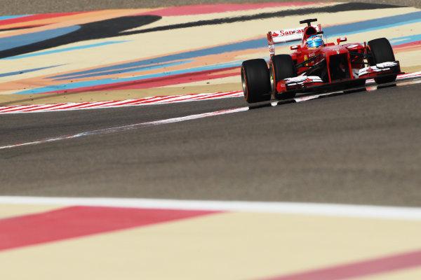 Bahrain International Circuit, Sakhir, Bahrain Sunday 21st April 2013 Fernando Alonso, Ferrari F138.  World Copyright: Andy Hone/LAT Photographic ref: Digital Image HONY1245