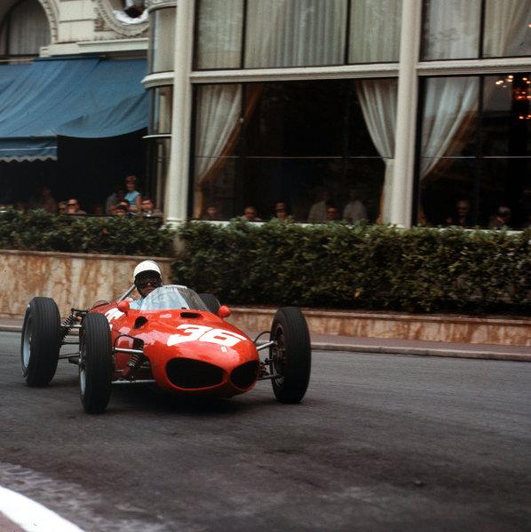 Monte Carlo, Monaco.31/5-3/6 1962.Phil Hill (Ferrari Dino 156) 2nd position.Ref-3/0504.World Copyright - LAT Photographic