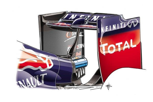Red Bull RB10 low downforce rear wing