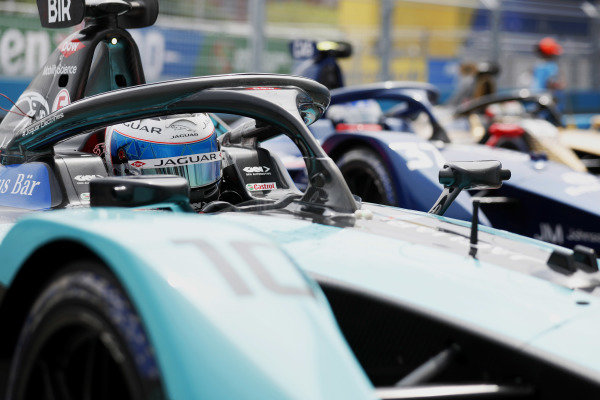 Sam Bird (GBR), Jaguar Racing, Jaguar I-TYPE 5, 1st position, in Parc Ferme