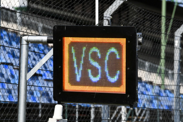 Virtual Safety Car lights being tested