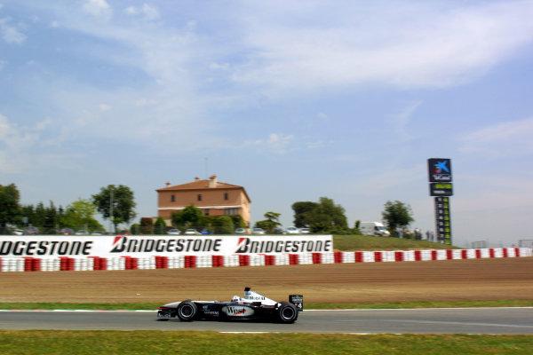 2001 Spanish Grand PrixCatalunya, Barcelona, Spain. 27-29 April 2001.David Coulthard (McLaren MP4/16 Mercedes) 5th position.World Copyright - LAT Photographicref: 8 9 MB Digital File