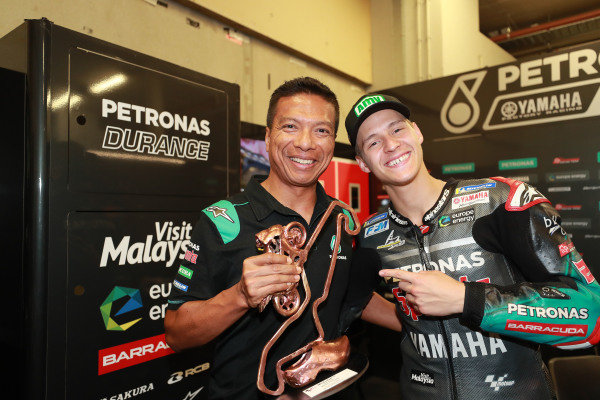 Razlan Razali, Fabio Quartararo, Petronas Yamaha SRT.