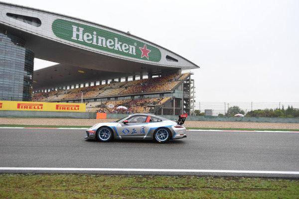 Jinlong Bao (CHN) Zheng Tong Auto at Porsche Carrera Cup Asia, Shanghai, China, 13-15 April 2018.