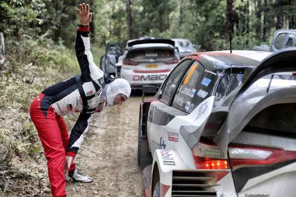 Jari-Matti Latvala (FIN), Toyota Gazoo Racing WRC warm up exercises at World Rally Championship, Rd13, Rally Australia, Preparations and Shakedown, Coffs Harbour, New South Wales, Australia, 16 November 2017.