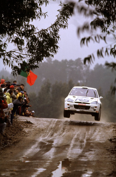 2001 World Rally Championship. Rally Portugal, Portugal. 8th-11th March 2001. Francois Delecour in Ford race action. World Copyright: McKlein / LAT Photographic. Ref: Portugal A10