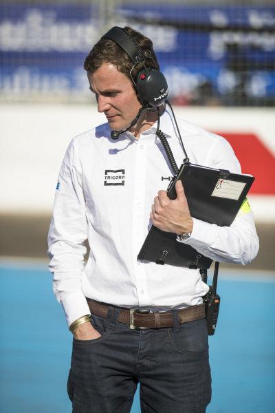 HWA Racelab team member on the grid