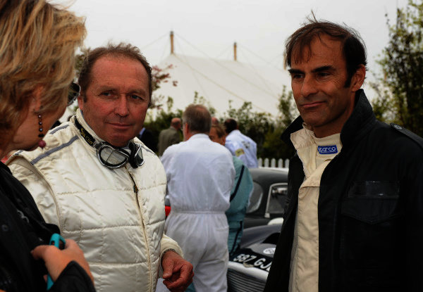 Goodwood , West Sussex, , England 18th - 28th September 2009.  Jochen Mass and Emanuele Pirro. World Copyright: Jeff Bloxham/LAT Photographic Ref: Digital Image Only