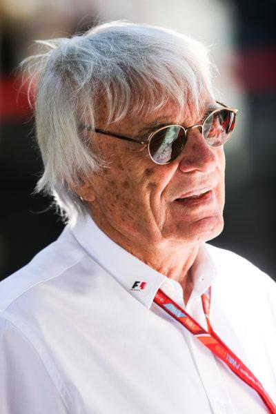 Interlagos, Sao Paulo, Brazil. Sunday 12 November 2017. Bernie Ecclestone, Chairman Emiritus of Formula 1. World Copyright: Charles Coates/LAT Images  ref: Digital Image DJ5R1633