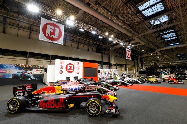 Autosport International Exhibition. National Exhibition Centre, Birmingham, UK. Sunday 14th January, 2018. The F1 Racing Stand. World Copyright: Joe Portlock/LAT Images Ref: _U9I1470
