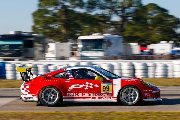 2017 Porsche GT3 Cup USA Sebring International Raceway, Sebring, FL USA Wednesday 15 March 2017 99, Alan Metni, GT3G, USA, 2016 Porsche 991 World Copyright: Jake Galstad/LAT Images ref: Digital Image lat-galstad-SIR-0317-14876