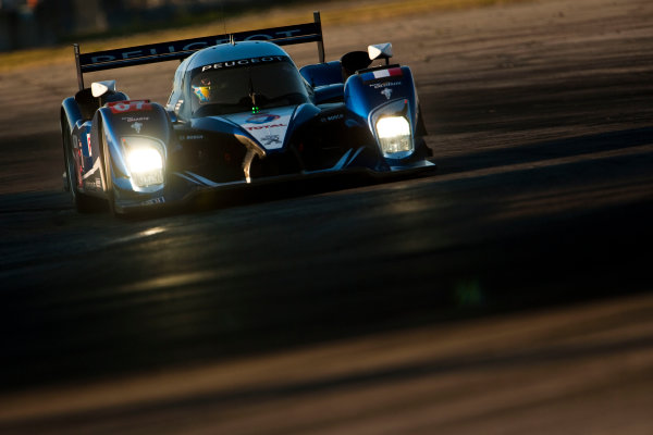 Sebring 12 Hours, Florida. 17th - 20th March 2010.  Marc Gene / Alexander Wurz / Anthony Davidson, (Team Peugeot, Peugeot 908 HDI FAP).  Action.  World Copyright: Drew Gibson/LAT Photographic. ref: Digital Image _Y8P4223