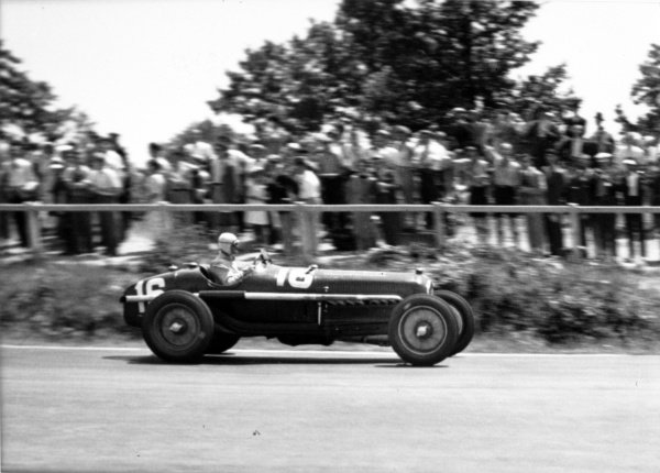 "1935 French Grand Prix Montlhery, France. 23 June 1935 Louis Chiron, Alfa Romeo Tipo-B ""P3"", retired, action World Copyright: Robert Fellowes/LAT PhotographicRef: 35FRA08"