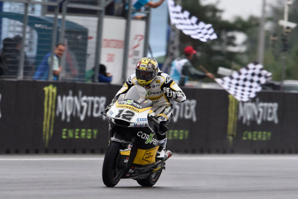 2017 Moto2 Championship - Round 10 Brno, Czech Republic Sunday 6 August 2017 Race winner Thomas Luthi, CarXpert Interwetten World Copyright: Gold and Goose / LAT Images ref: Digital Image 50866