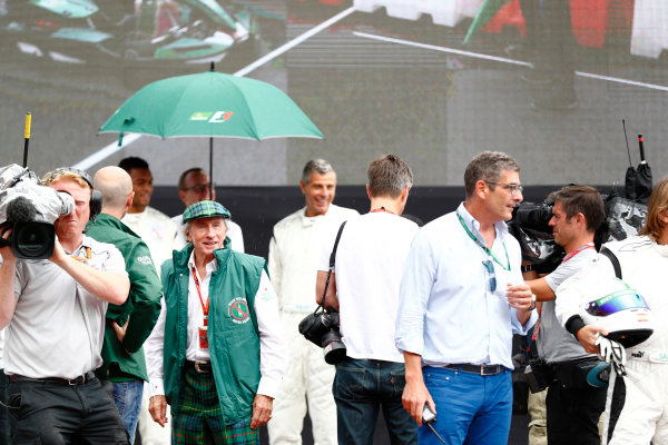 Autodromo Nazionale di Monza, Italy. Thursday 31 August 2017. Sir Jackie Stewart. World Copyright: Sam Bloxham/LAT Images  ref: Digital Image _J6I2394
