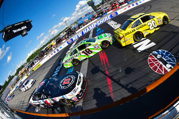 15-17 July, 2016, Loudon, New Hampshire USA Matt Kenseth, Dollar General Toyota Camry ;eads, Kyle Busch, Interstate Batteries Toyota Camry and Kevin Harvick ?2015, Nigel Kinrade LAT Photo USA