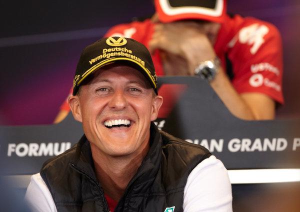 Spa-Francorchamps, Spa, Belgium 25th August 2011. Michael Schumacher, Mercedes GP W02, in the Thursday press conference. Portrait. Press Conferences.  World Copyright: Steve Etherington/LAT Photographic ref: Digital Image SNE29605