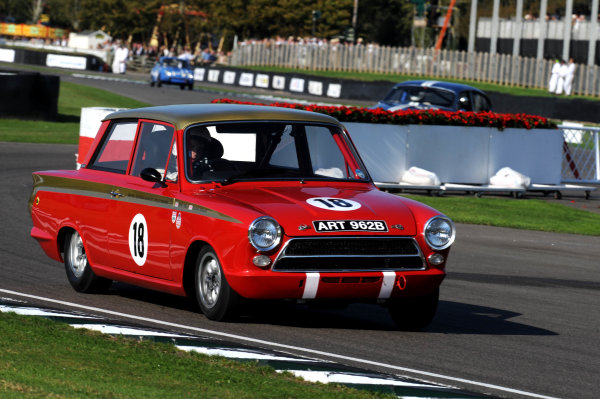 Goodwood Estate, West Sussex, 15th - 18th September 2011 St Mary's Trophy Henry MANN, Ford-Lotus Cortina Mk1. World Copyright:Jeff Bloxham/LAT Photographic Ref: Digital Image