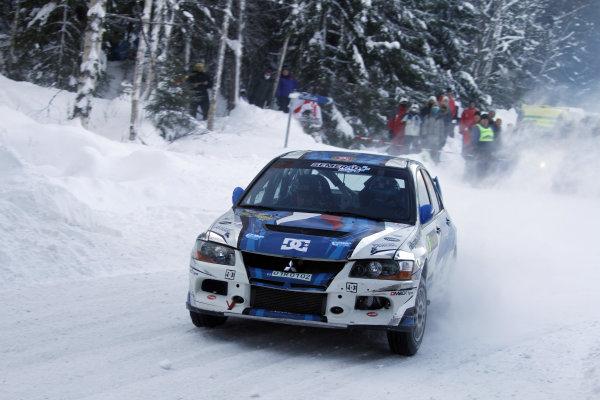 Round 01-Rally Sweden. 10th-13th February 2011.Martin Semerad, Mitsubishi PWRC, Action.Worldwide Copyright: McKlein/LAT