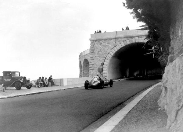 1950 Monaco Grand Prix.Monaco, Monte Carlo. 21st May 1950.Louis Chiron (Maserati 4CLT/48). Ref-C26717.World Copyright: LAT Photographic