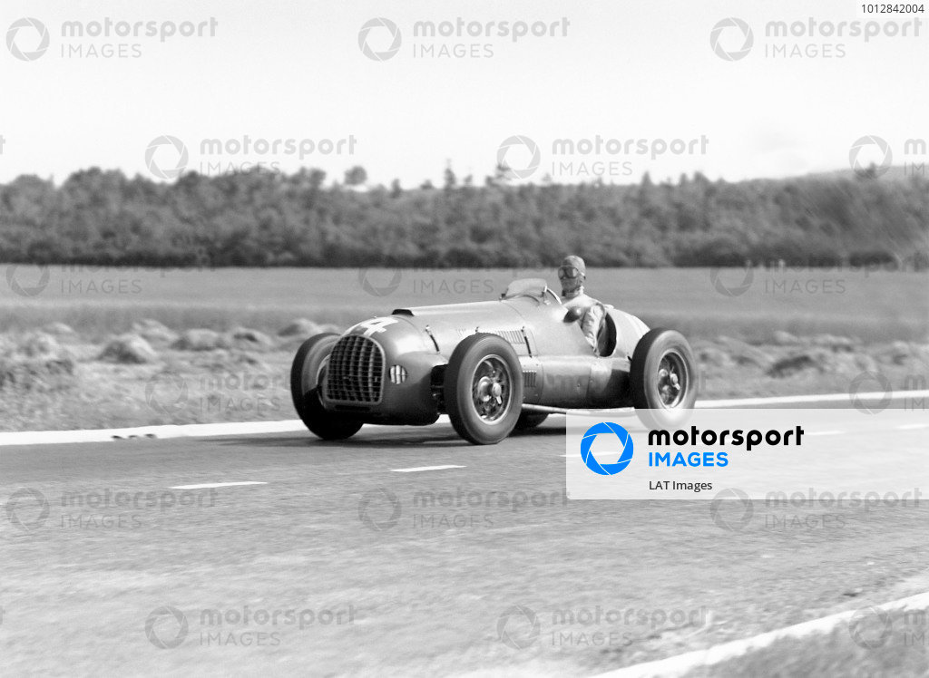 1950 French Grand Prix.Reims-Gueux, France. 2 July 1950.Peter Whitehead (Ferrari 125). Ref: B&W negative no. C27338.World Copyright: LAT Photographic
