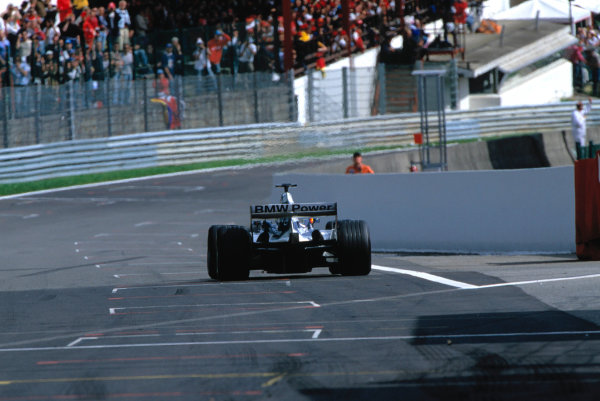 2004 Belgian Grand Prix.Spa Francorchamps, Belgium. 27th - 29th August.WilliamsF1 BMW FW26. Rear action. World Copyright:LAT PhotographicRef:35mm Image A07