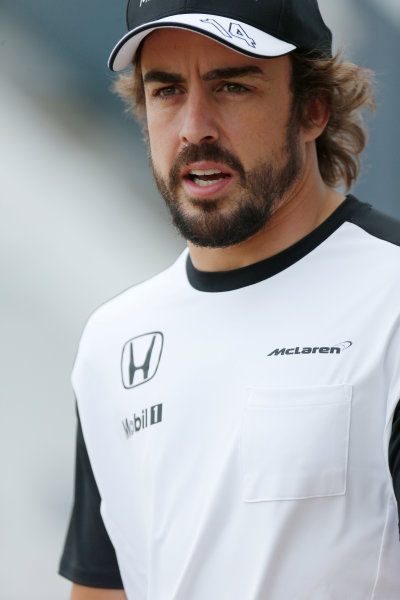 Silverstone Circuit, Northamptonshire, England. Friday 3 July 2015. Fernando Alonso, McLaren. World Copyright: Alastair Staley/LAT Photographic ref: Digital Image _79P0808