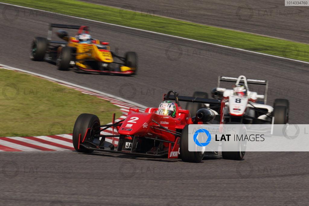 2015 Japanese Formula 3 Championship. Suzuka, Japan. 18th - 19th April 2015. Rd 1 & 2. Rd.1 2nd position Keishi Ishikawa ( #2 TODA FIGHTEX ) action World Copyright: Yasushi Ishihara/LAT Photographic. Ref: 2015JF3_Rd1&2_006