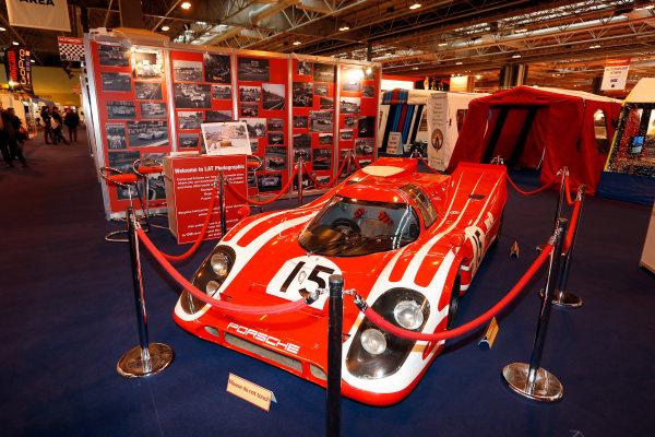 Autosport International Show NEC, Birmingham.  Thursday 10th January 2013. Porsche 917K on the LAT stand.  World Copyright:Andrew Ferraro/LAT Photographic ref: Digital Image _79P2904