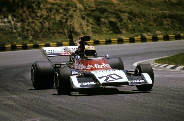 Giovanni (Nanni) Galli (ITA) Iso Marlboro-Williams FX3B finished in ninth place.Brazilian Grand Prix, Interlagos, 11 February 1973.BEST IMAGE