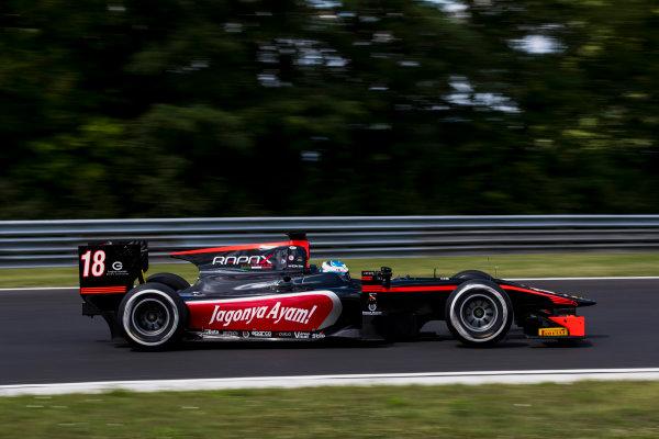 2017 FIA Formula 2 Round 7. Hungaroring, Budapest, Hungary. Friday 28 July 2017. Nyck De Vries (NED, Rapax).  Photo: Zak Mauger/FIA Formula 2. ref: Digital Image _54I0960