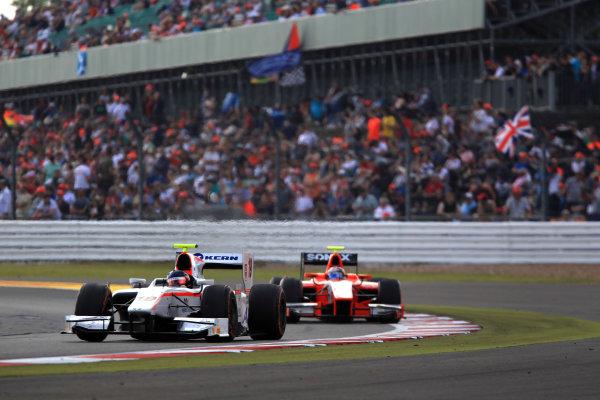 2013 GP2 Series. Round 5. Silverstone, Northamptonshire, England. 30th June. Sunday Race. Simon Trummer (SUI, Rapax). Action.  World Copyright: Jakob Ebrey/GP2 Series Media Service. Ref: JE2_4205