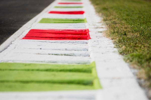 2017 GP3 Series Round 6.  Autodromo Nazionale di Monza, Monza, Italy. Thursday 31 August 2017. Kerbs. Photo: Zak Mauger/GP3 Series Media Service. ref: Digital Image _54I4836