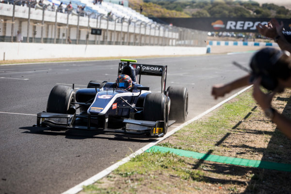 2017 FIA Formula 2 Round 10. Circuito de Jerez, Jerez, Spain. Sunday 8 October 2017. Artem Markelov (RUS, RUSSIAN TIME) wins the race. Photo: Andrew Ferraro/FIA Formula 2. ref: Digital Image _FER3636