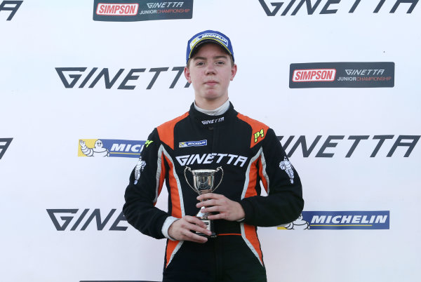 2017 Ginetta Junior Championship, Silverstone, Northants, UK. 16th-17th September 2017 Louis Foster (GBR) Elite Motorsport Ginetta Junior World copyright. JEP/LAT Images