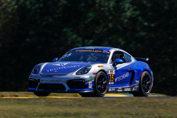 IMSA Continental Tire SportsCar Challenge Fox Factory 120 Road Atlanta, Braselton GA Wednesday 4 October 2017 35, Porsche, Porsche Cayman GT4, GS, Russell Ward, Damien Faulkner World Copyright: Jake Galstad LAT Images