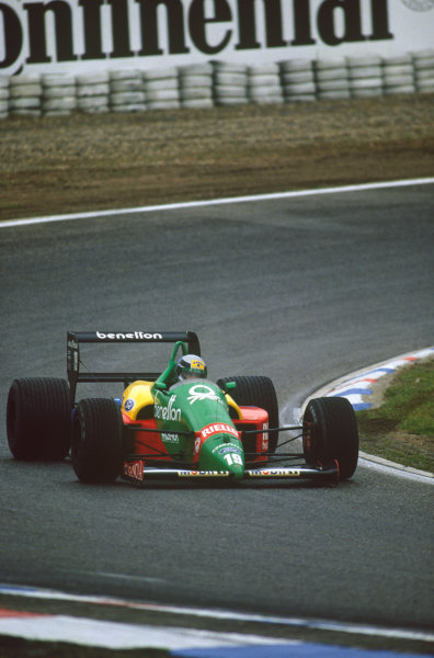 Hockenheim, Germany. 22nd - 24th July 1988. Alessandro Nannini (Benetton B188-Ford), retired, action.  World Copyright: LAT Photographic. Ref: CC