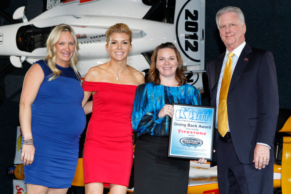 6 December, 2012, Indianapolis, Indiana USA Sarah Fisher Hartman Racing receives the Giving Back Award.(c)2012, Russell LaBounty LAT Photo USA .