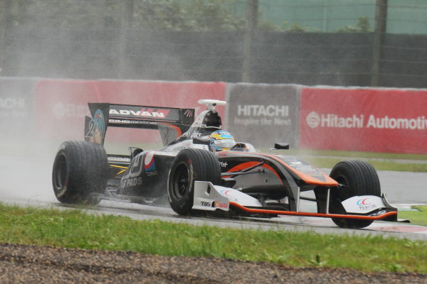 2017 Japanese Super Formula. Suzuka, Japan. 21st - 22nd October 2017. Rd 7. Cancelled race due to Typhoon. 2017 Driver?s Champion Hiroaki Ishiura ( #2 P.MU/CERUMO ? INGING SF14 ) action  World Copyright: Yasushi Ishihara / LAT Images. Ref: 2017_SF_Rd7_006
